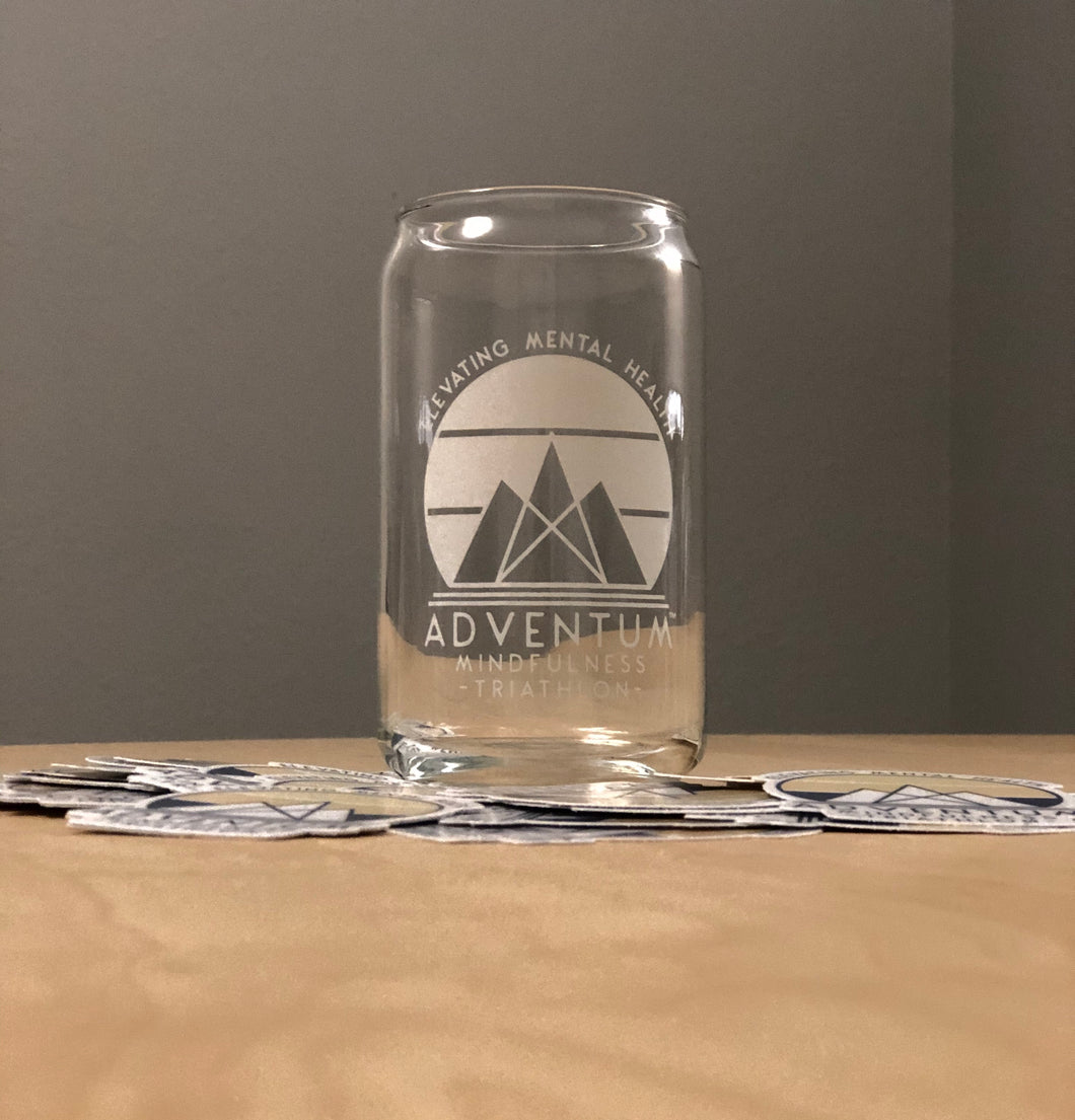 Adventum Mindfulness Triathlon Glass Can