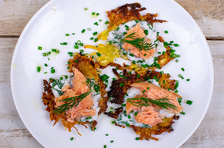 Whole30 Smoked Salmon Potato Pancakes