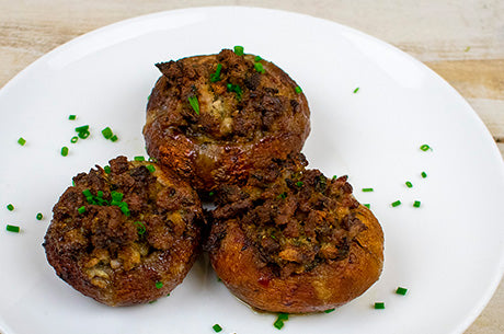 Whole30 Sausage Stuffed Mushrooms