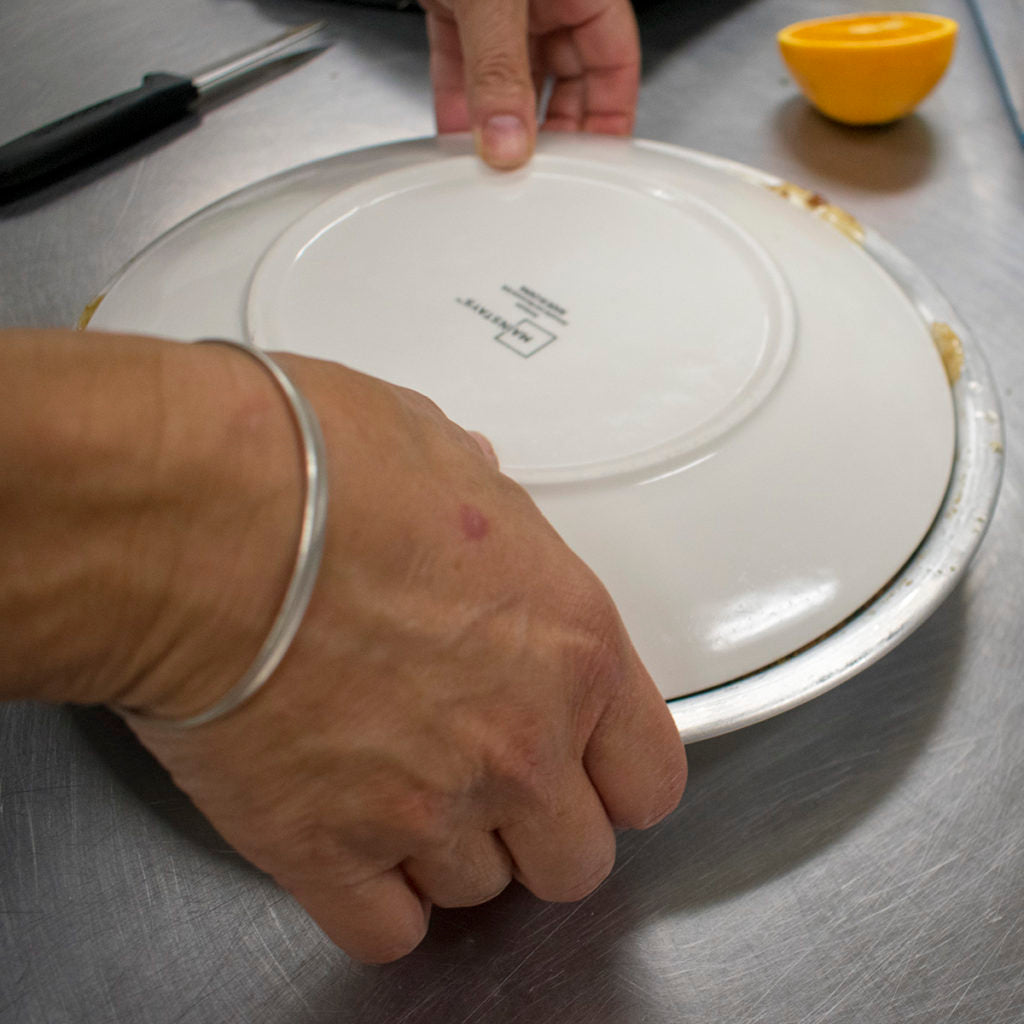 Cook the cake for 30 minutes then invert cake onto a large plate