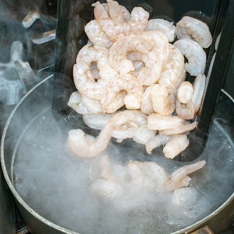 place shrimp in boiling water