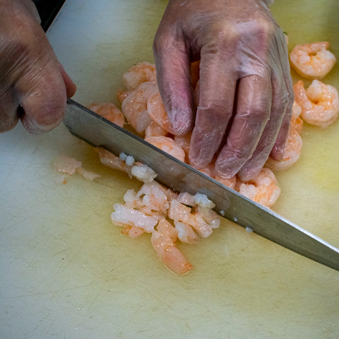 chop shrimp