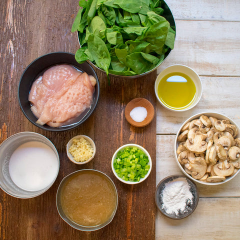 AIP Chicken Florentine Ingredients