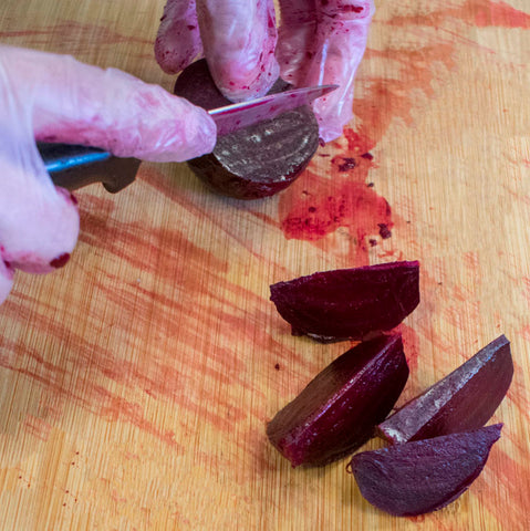 Slice the beets