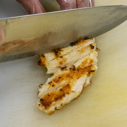 slice grilled chicken