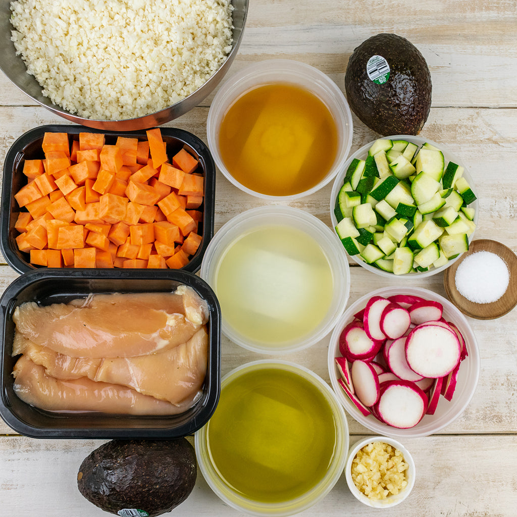 paleo chicken burrito bowl ingredients