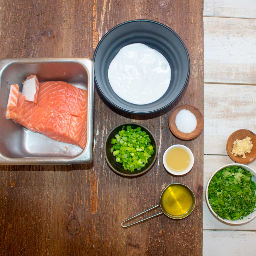 AIP Skillet Seared Salmon with Cilantro Sauce - Ingredients