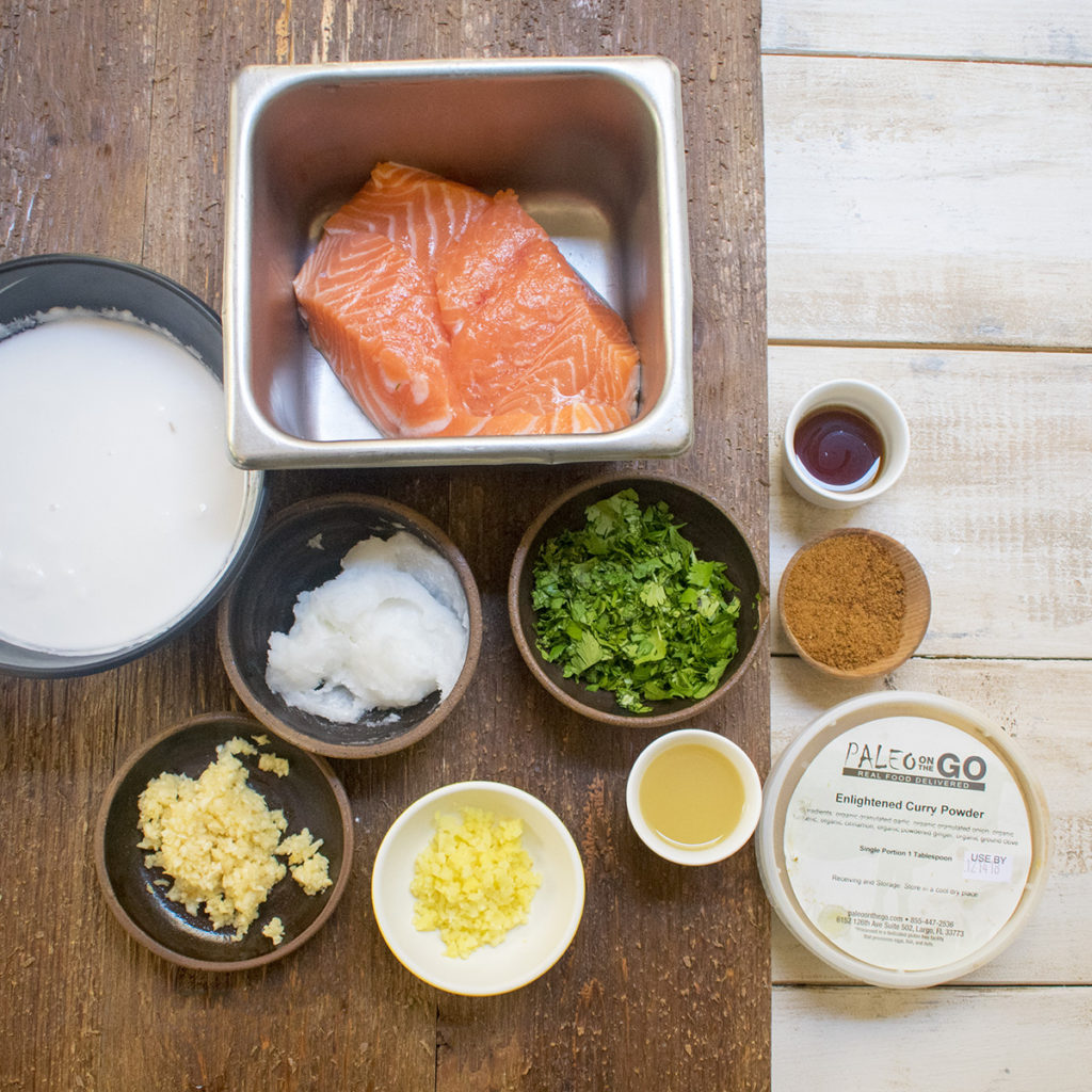 AIP Coconut Curry Salmon Ingredients