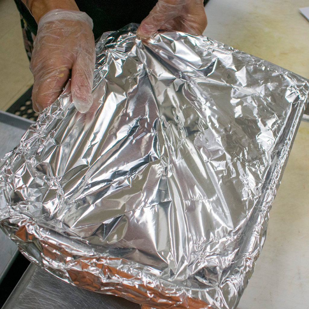cover pan with foil and bake 30 minutes