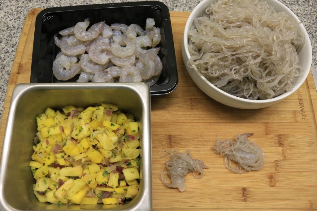 Vermicelli Wrapped Shrimp with Tropical Dipping Sauce Ingredients