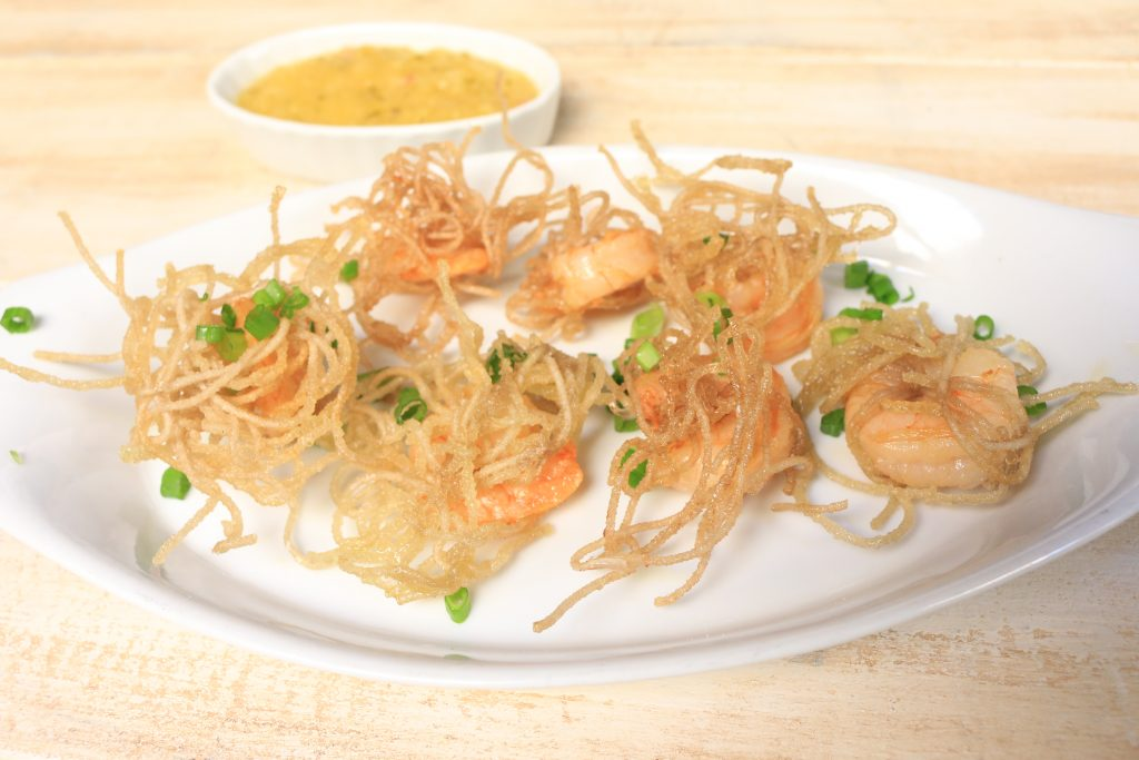 AIP Vermicelli Wrapped Shrimp with Tropical Dipping Sauce
