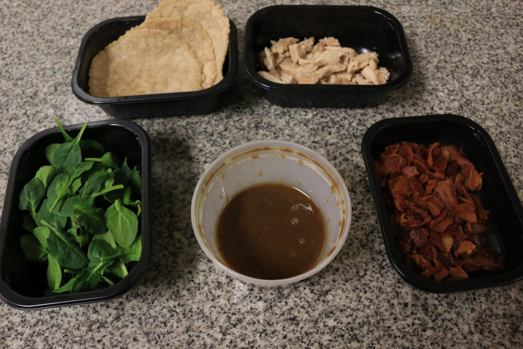 AIP/Paleo Chicken, Bacon and Spinach Wrap Ingredients