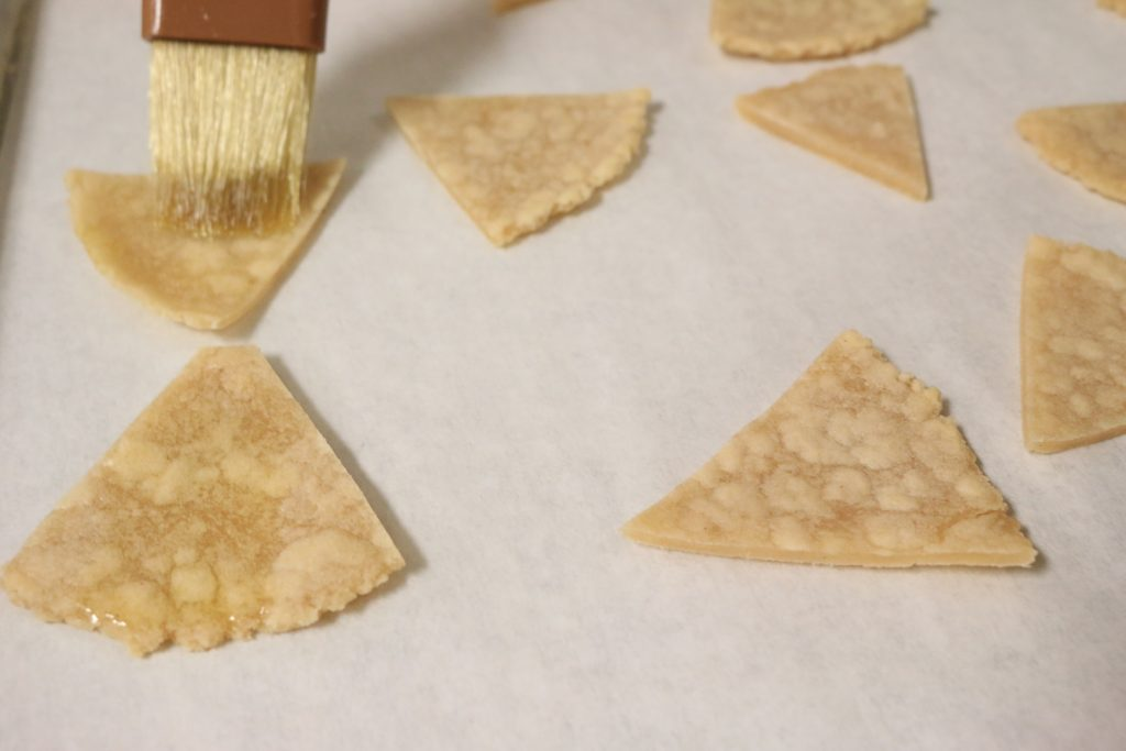 Brush aip tortillas olive oil