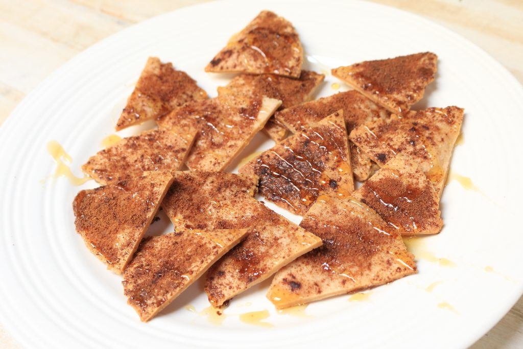 drizzle chips with honey before serving