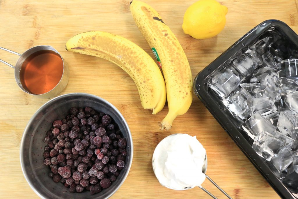 Paleo AIP Blueberry Delight Smoothie Ingredients