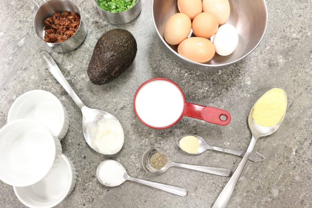 Bacon Egg & Cheese Soufflé Ingredients
