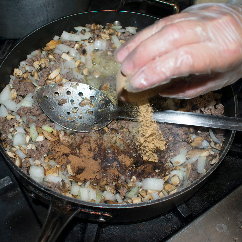 Then add ground ginger to the AIP Greek Moussaka recipe