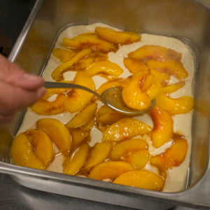 Top evenly with the cooked fruit mixture