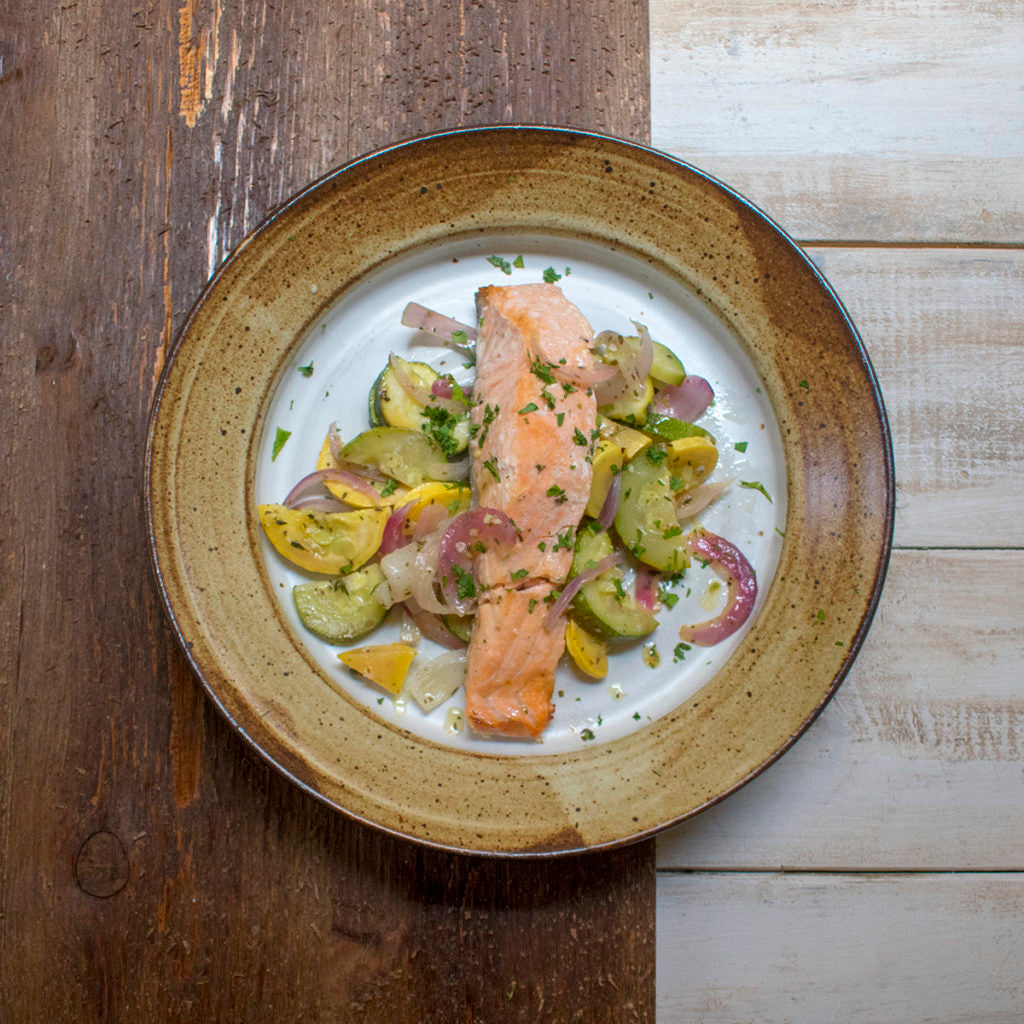 AIP Salmon And Vegetable Foil Packs