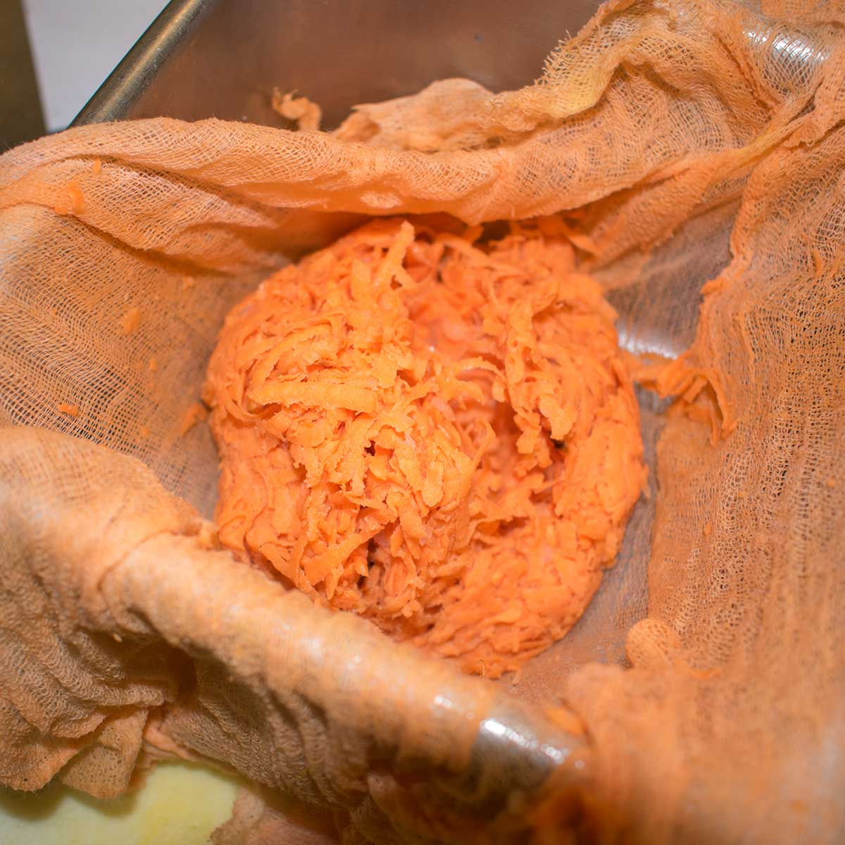 grated sweet potatoes drained