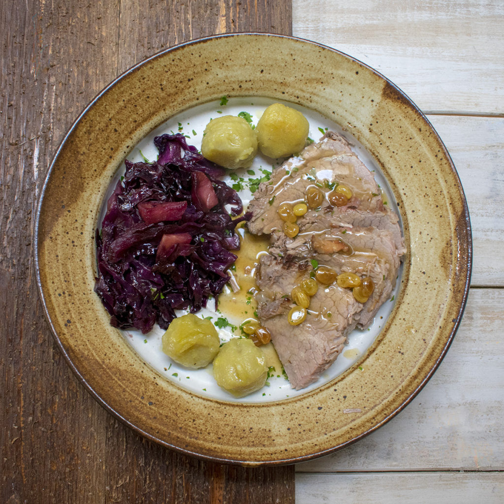 German Potato Dumplings and Red Cabbage AIP