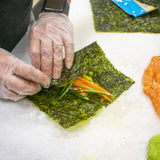 Roll up the Seasnax Salmon Hand Rolls