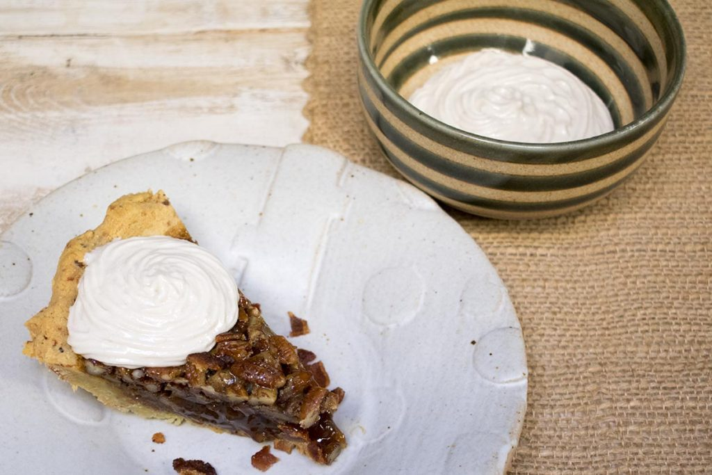 aip paleo whipped cream on pumpkin pie