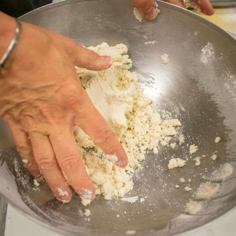 continue to mix ingredients in bowl