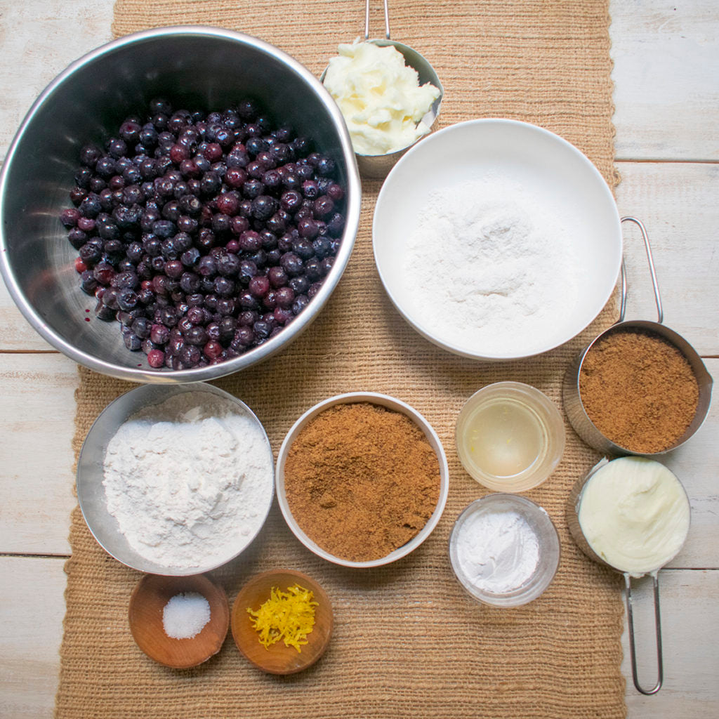 aip paleo blueberry crumble ingredients