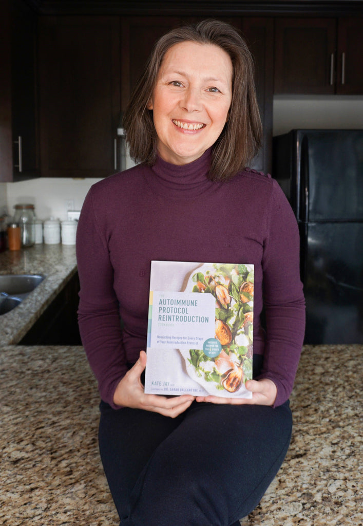 kate jay - Nutritional Therapy Practitioner, AIP Certified Coach and author of The Autoimmune Protocol Reintroduction Cookbook