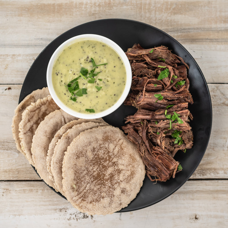 Grass Fed Beef Taco Kit with Salsa Verde - Serves 2-3