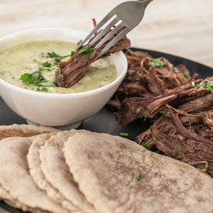 beef taco kit with salse verde