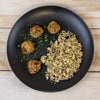 aip Pork Dust Crusted Boudin Balls with Dirty Rice