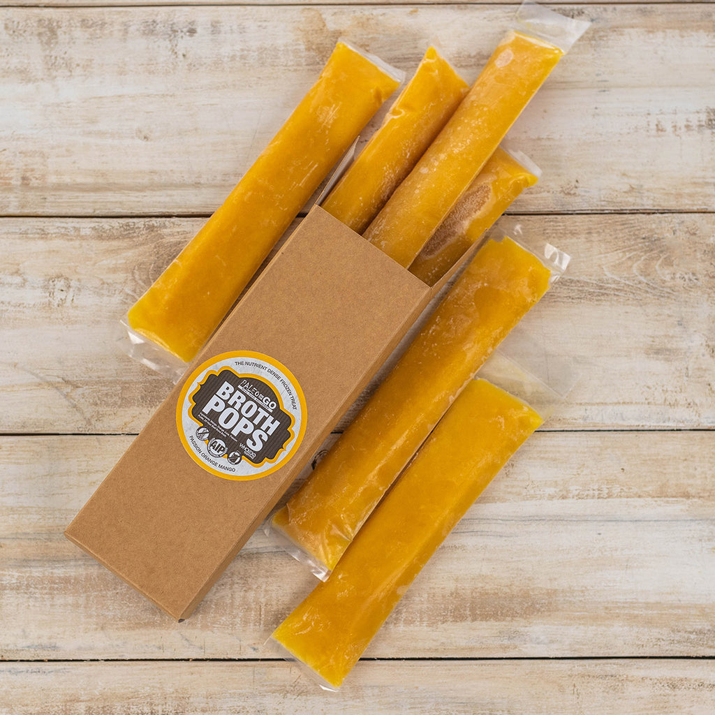 POTG Passion Orange Mango  Bone Broth Pops - 6 Pack