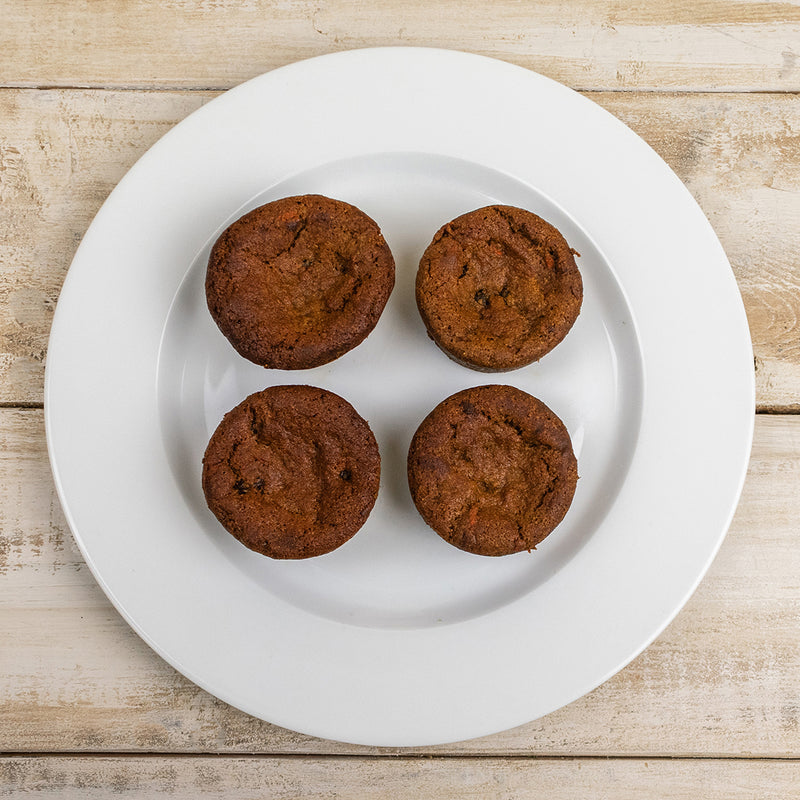 Carrot Cake Muffins Cut Open
