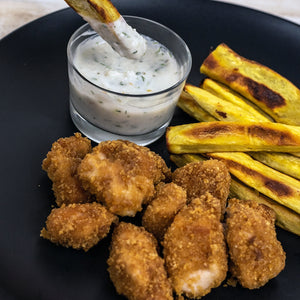 Chicken Nuggets with Sweet Potato Fries with AIP Ranch