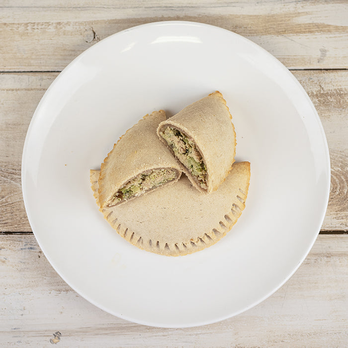 Paleo Garlic Chicken Broccoli Empanada