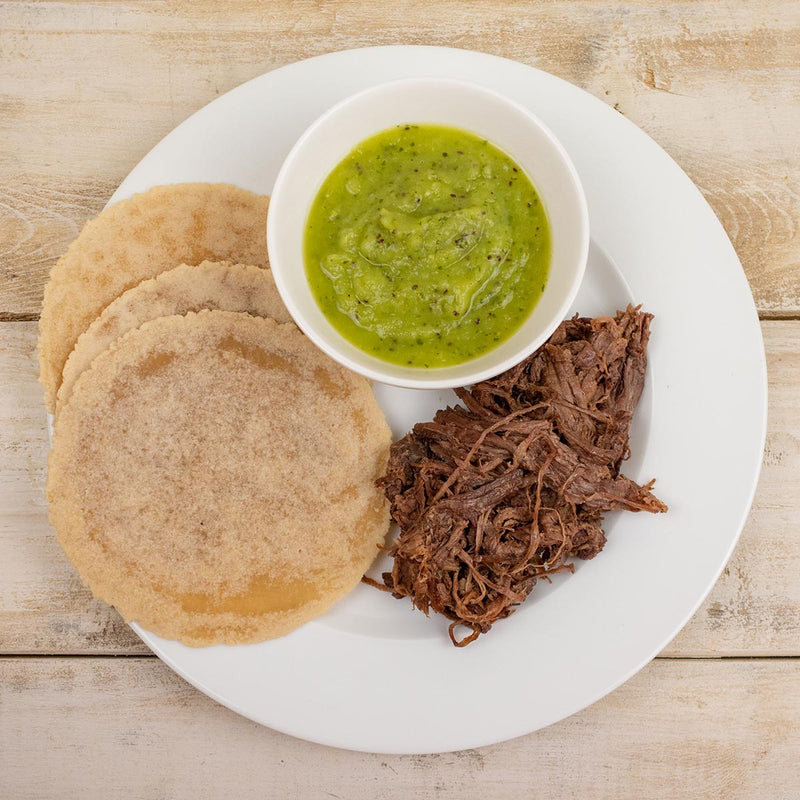 Paleo Grass Fed Beef Taco Kit Salsa Verde Tortillas
