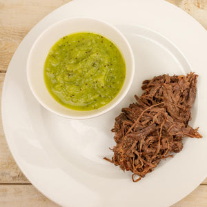Grass Fed Beef Taco Kit Salsa Verde Close