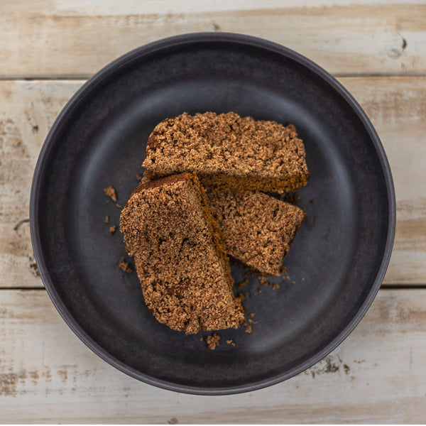Overhead of Pumpkin Spice Crumb Cake slices