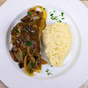 AIP Salisbury Steak with Mushroom Gravy