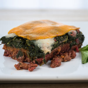 Spinach Mushroom Beef Lasagna Close Up