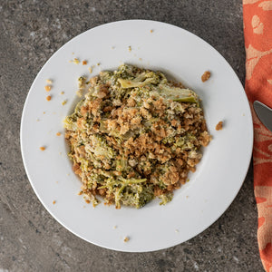 crumbly topping on broccoli casserole