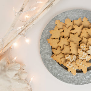 white christmas setting with aip cookies