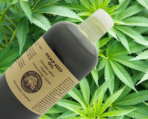 100% Pure Hemp Seed Oil organic, cold pressed