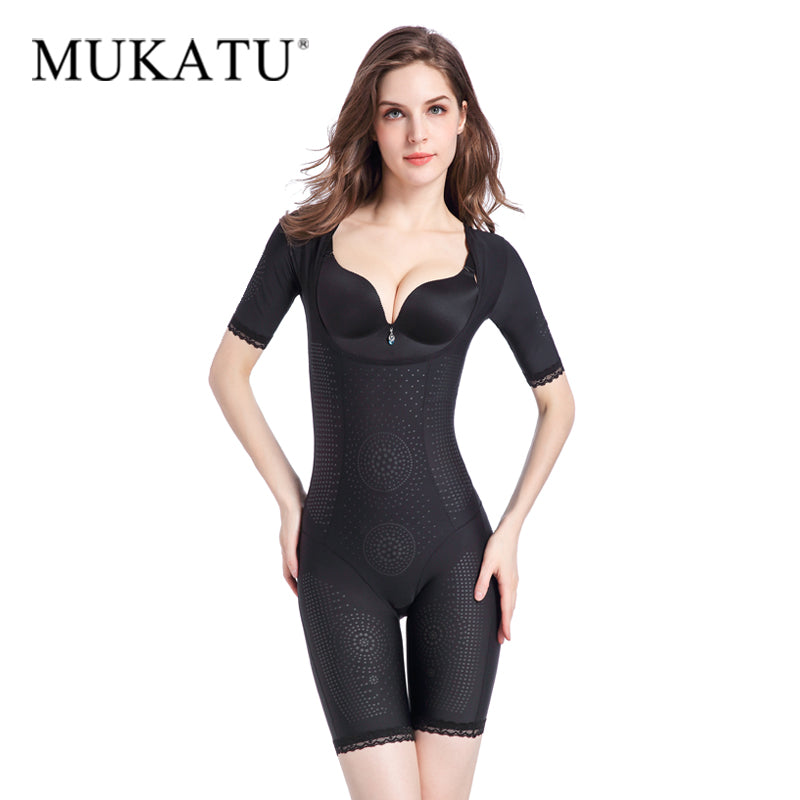 815870079 2019 New Slim Control Slip Full Body Shaper Thermal Waist Cincher Bodysuit  Arm Shaper Thigh Slimer