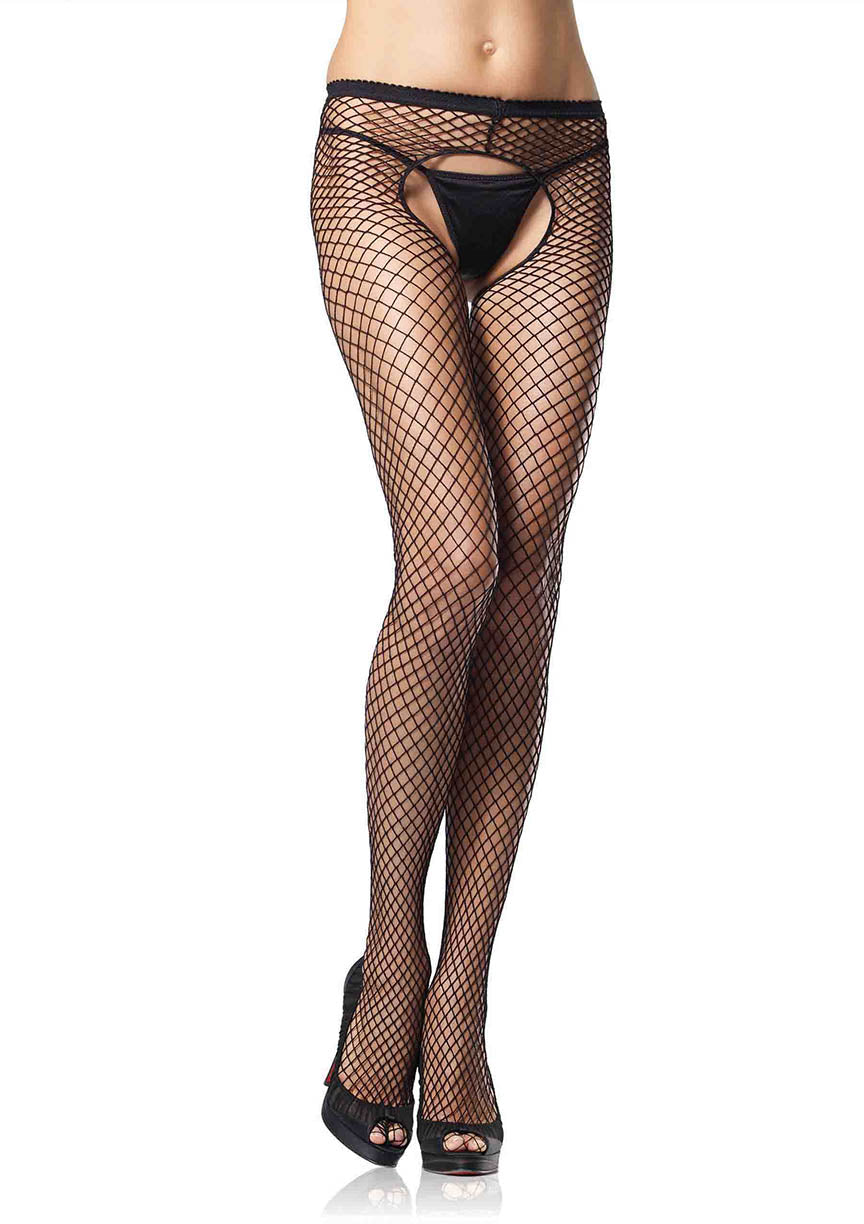 Crotchless Industrial Net Tights