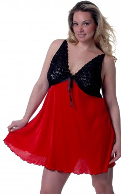Pleated Chemise Baby Doll