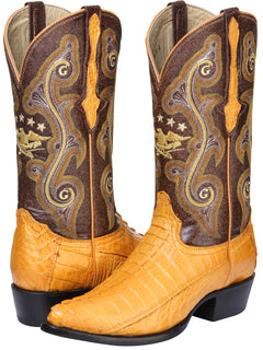 COWBOY BOOT EL GENERAL 6787-R CAIMAN SKIN BUTTERCUP