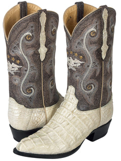 COWBOY BOOT EL GENERAL 6789-R CAIMAN SKIN BONE
